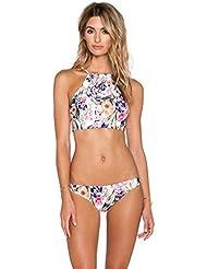Nuevo traje de baño de la playa de la impresión de la manera bikiní atractivo de la mujer