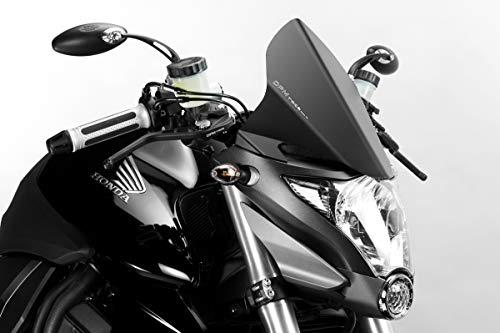 CB1000R 2009/12 - Windschutzscheibe 'Warrior' (R-0670) - Aluminium Windschild Windabweiser Scheibe - Einfache Installation - Mattschwarz - Motorradzubehör De Pretto Moto (DPM) - 100% Made in Italy