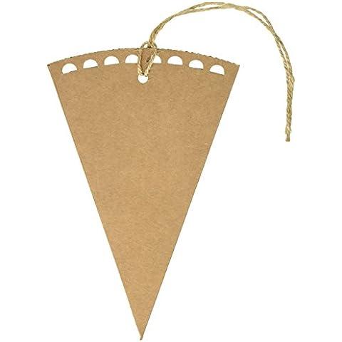 Ginger Ray conos marrón Kraft boda del confeti - Affair Vintage