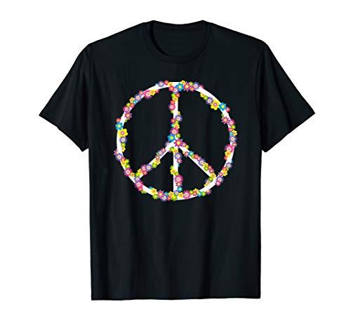 Peace Love 60er 70er Jahre Flower Power Hippie Kostüm Gifts (Hippie Vintage Kostüm)