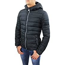 Giubbotto piumino uomo casual nero invernale giacca