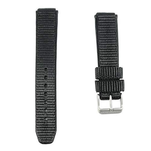 Hamilton H600.684.109 Khaki-Lederband mit Stahlschnalle, 20 mm, Schwarz