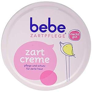 bebe Zartpflege Zartcreme/bebe Creme für zarte, junge Haut/Feuchtigkeitsspendende Creme für Kinder / 6 x 150 ml