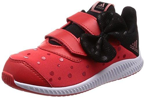 Y Minnie FortaRun Cloudfoam Sneaker, Rot (Hirere/Ftwwht/Cblack Hirere/Ftwwht/Cblack), 26 EU (Kleinkind Minnie Maus Schuhe)