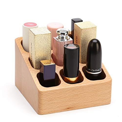 Support de Rangement pour Organisateur de Maquillage en Bambou pour Cosmétiques, Rouge À Lèvres, Vernis À Ongles, Pinceau À Maquillage
