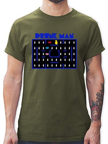 Army Grüne Boy Kostüm - JGA Junggesellenabschied - Drunk-Man JGA - S - Army Grün - L190 - Herren T-Shirt und Männer Tshirt
