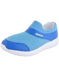 Sparx Women's PU Mesh Navy Blue White Shoes UK 4 (SX0089L)