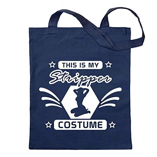 questo è il mio costume da spogliarellista borsa di juta Stampa design motivo stampato