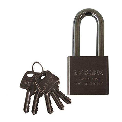 Vorhängeschloss Stahl Normex 50mm Sicherheitsschloss Bügelschloss 5 Schlüssel
