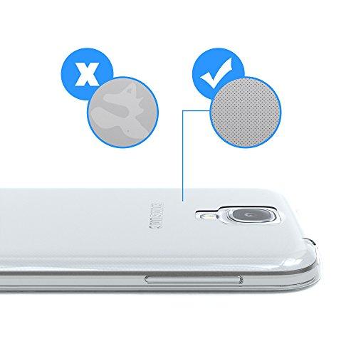 Samsung Galaxy S4 / S4 Neo Hülle - EAZY CASE Ultra Slim Cover TPU Handyhülle Matt - dünne Schutzhülle aus Silikon in Dunkelblau Clear Transparent