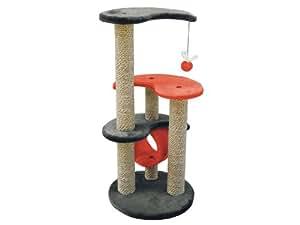 Martin-Sellier - Arbre à chat - YingYang Cat gris & orange (86cm x 39cm x 39cm)