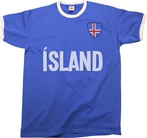 Mens Island Iceland World Cup 2018 T-Shirt Country Name Ringer Retro Sports Football  Patriotic a6515b458