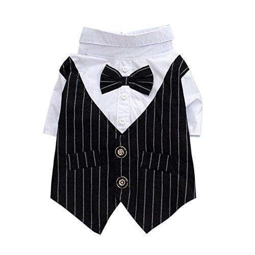 (Haustier Hund Welpen Shirt Anzug Hochzeit Gentleman Anzug Hund Kostüme Shirt Anzug)