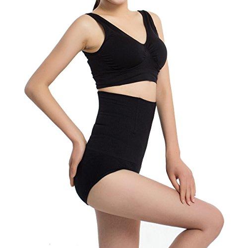 Sexy Women Panties Fashion Designer Body Shaper Hip Abdomen Tummy Control Briefs High Waist Underwear Women's Panty Black