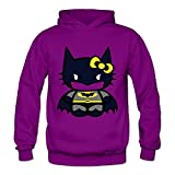Buluew Femme Street Style Batman Kitty Sweat à Capuche Taille US Blanc
