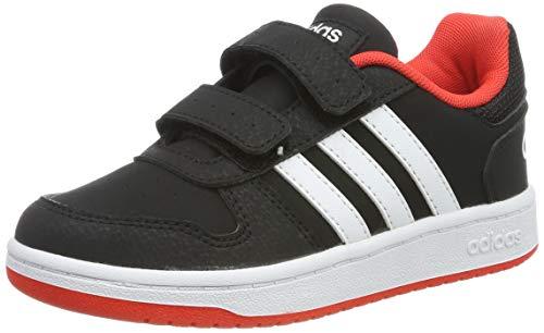 adidas Unisex-Kinder Hoops 2.0 CMF C Fitnessschuhe, Schwarz (Negbás/Ftwbla/Roalre 000), 30.5 EU -