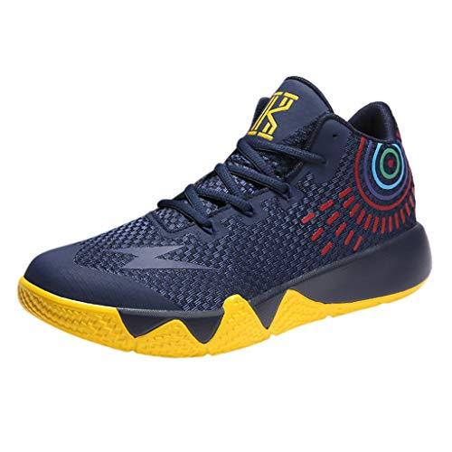 Basketballschuhe für Herren/Skxinn Unisex Outdoor Sneakers Turnschuhe Sportschuhe Wanderschuhe rutschfest Footwear Tennischuhe Sneaker Laufschuhe Ausverkauf(Dunkelblau,40 EU)