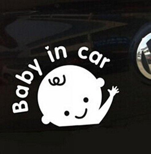 ewinever(TM) 1pcs Baby in Autofenster Auto Locker-Aufkleber für Jungen Weiß