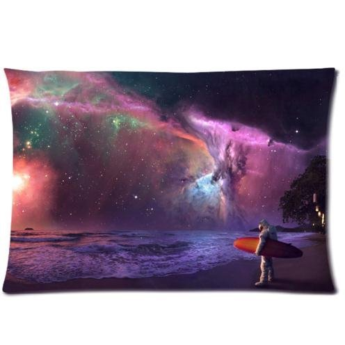 characteristic-stylish-surfing-astronaut-under-the-colorful-night-sky-pattern-print-rectangle-pillow