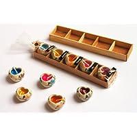 (2confezioni) Thai Spa candela, soffice Aroma candela con mini cuore in ceramica Holder Thai
