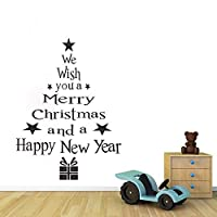 💕💕 Christmas Tree Letters Stick Wall Art Decal Mural Home Room Decor Wall Sticker