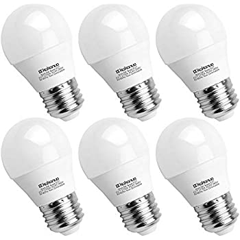 kakanuo 6 W bombilla LED casquillo E27 Globe G45 blanco cálido 2700 K 600LM AC 85 - 265 V equivalent 60 W halógena Bombilla no dimmable [energétique clase A ...