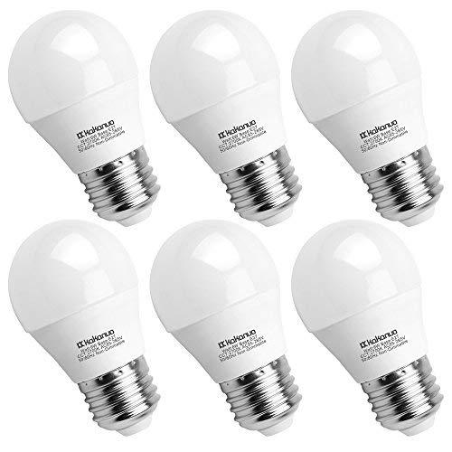 Kakanuo 6W Ampoule Led Culot E27 Globe G45 Blanc Chaud 2700K 600lm AC 85-265V Equivalent 60W Halogène Ampoule Non Dimmable [Classe Energétique A +]