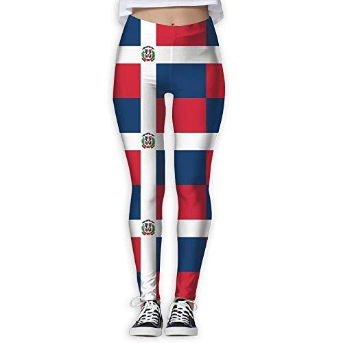 Deglogse Yogahosen, Trainingsgamaschen,Women's Skinny Pants for Yoga Flag of The Dominican Republic Printed Workout Capris Leggings