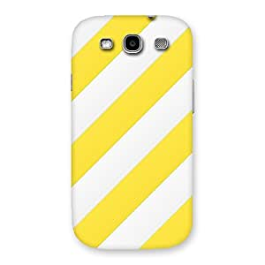 Neo World White And Yellow Stripes Back Case Cover for Galaxy S3 Neo