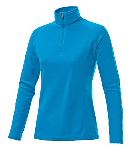 Medico Damen Skirolli blau 42 (Fleece Shirt Langarm Pullover)