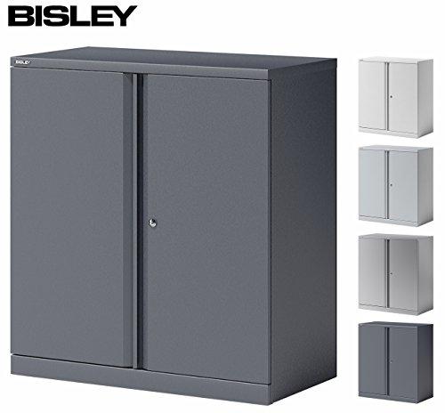 BISLEY Aktenschrank | Büroschrank | Flügeltürenschrank aus Metall abschließbar inkl. 2 Einlegeböden | Stahlschrank ist TüV / GS geprüft