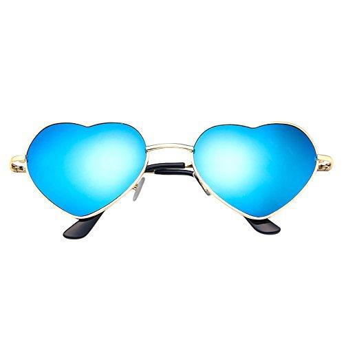Yu'ting ☀‿☀ hippy occhiali a forma di cuore occhiali da sole per hippie fancy dress accessorio, occhiale da spiaggia per occhiali da sole a forma di cuore per ragazza donna