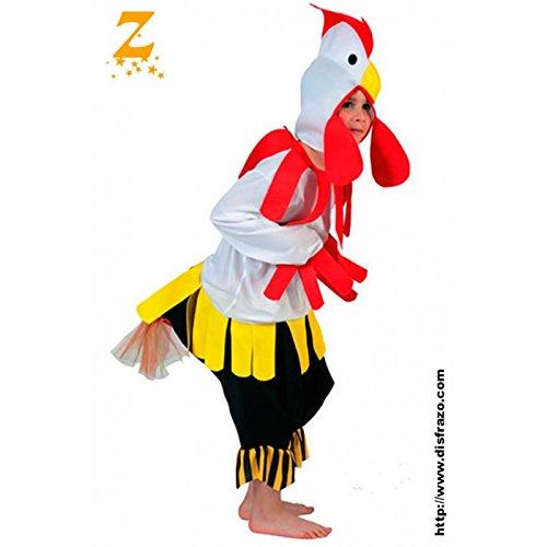 Fyasa 705974-t01disfraz de gallo, tamaño mediano