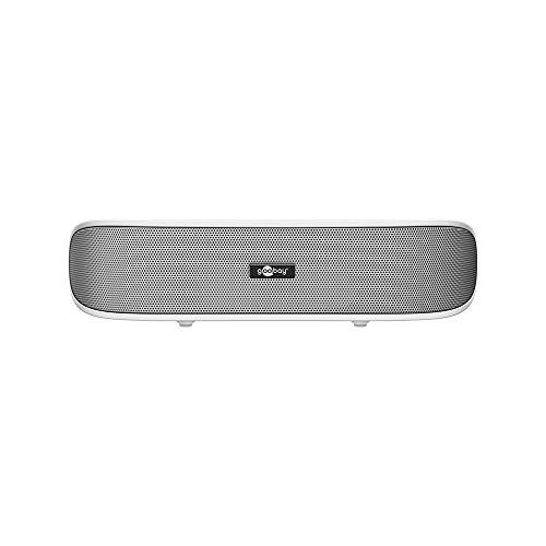 Goobay SoundBar 6W Stereo Lautsprecher für PC, TV und Notebook, weiß -