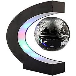 Denshine - Globo Terraqueo de Levitación Magnética con Forma de C