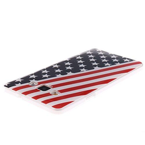 Samsung Galaxy A7 hülle MCHSHOP Ultra Slim Skin Gel TPU hülle weiche Silicone Silikon Schutzhülle Case für Samsung Galaxy A7 - 1 Kostenlose Stylus (Löwenzahn sich verlieben (Dandelions Fall in Love)) Flagge der Vereinigten Staaten (Flag of the United Stat