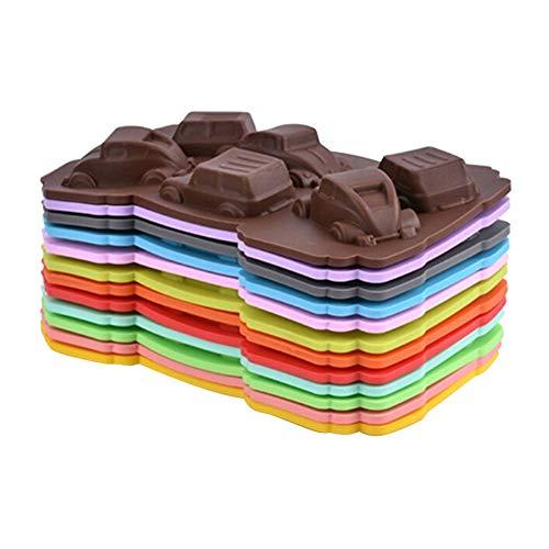 LQHBXX 1Pcs Cartoon Backform-Hohlraum Auto Form Silizium Muffin Kuchen Brot Form Schokolade Gelee Süßigkeiten Seife Backform,ColorRandom