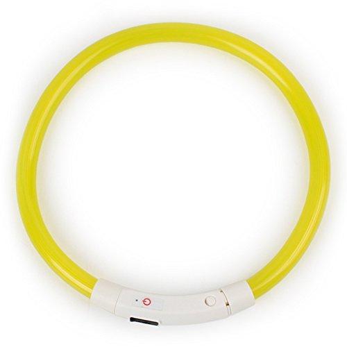 Collier lumineux de sécurité à LED réglable pour chien, chiot et chat - Mode continu et clignotant