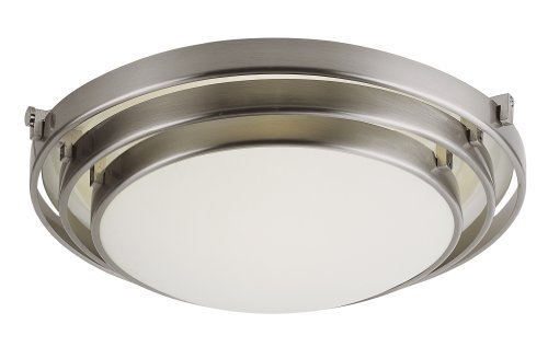 Trans Globe Lighting 2483 BN 1-Light Flush-Mount, Brushed Nickel by Trans Globe Lighting