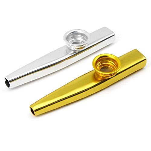 VANKER Kazoo flauta regalo del niño Instrumentos Musicales Aleación de aluminio de amantes de la música--darado