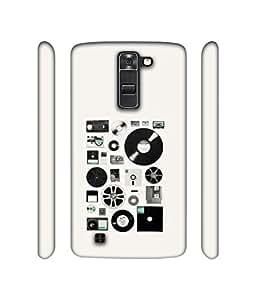 NattyCase Music Design 3D Printed Hard Back Case Cover for LG K7