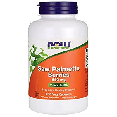 Now Foods Saw Palmetto Berries, 550mg, 250 Vegetarian Capsules