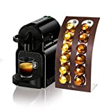 Elba Porta Capsule caffè Nespresso rivestito in morbida Pelle, Dispenser porta cialde, Distributore, Supporto porta capsule, Include Scatola Regalo - (Marrone)
