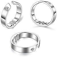 Preisvergleich für zantec Titan Stahl Anti Schnarch Ring Akupressur Natürliche Behandlung gegen Schnarchen Stopper Gerät Finger Ring...