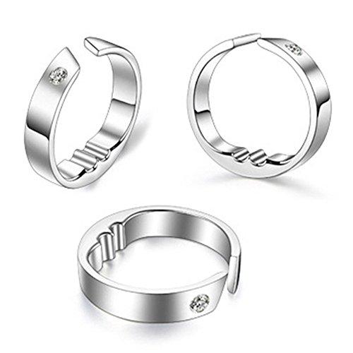 zantec titanio acero anillo anti ronquidos Natural Tratamiento contra los ronquidos Tapón de acupresión Dispositivo dedo anillo sueño atención de la salud preisvergleich