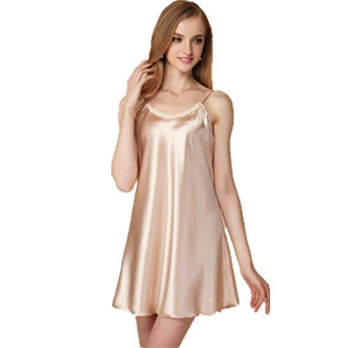 DMMSS Sommer-Damen Umschlingen Meine Nachtkleider Seide Kleid Pyjama Kleid In Seide Kleidung xl
