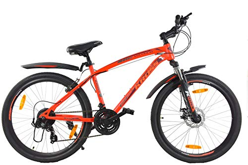Kross Maximus Pro 26 Inches 21 Speed Bike for Adults Orange Gear Cycles Under 10000