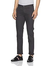 Peter England Men's Super Slim Casual Trousers