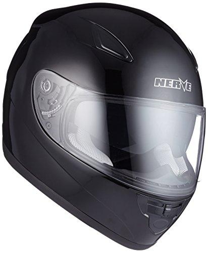 Nerve Casque Intégral de Moto, Noir, XS