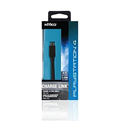 Nyko PS4 Charge Link Cable for Sony PlayStation 4